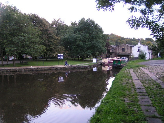 The end of the line - Peak Forest Canal terminantes at the boat sheds in Whaley Bridge. Once hugely industrial, transporting stone and livestock into Manchester. It is now a lovely place to picnic, fish or take a walk.
