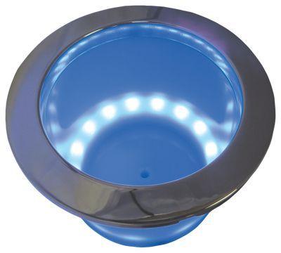 ITC Marine LED Lighted Stainless Steel Rim Drink Holder