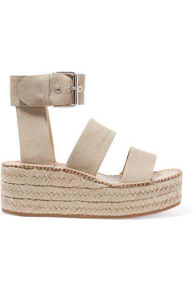 rag & bone - Tara Canvas Espadrille Platform Sandals - Neutral - IT39