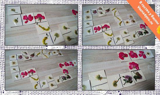 """Цветочное домино своими руками - Наше лето - Статьи блога """"В гостях у Весны"""" - В гостях у Весны"""