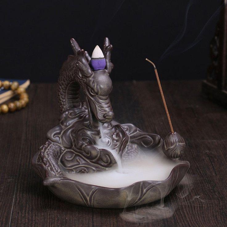 Ceramic Dragon Incense Burner