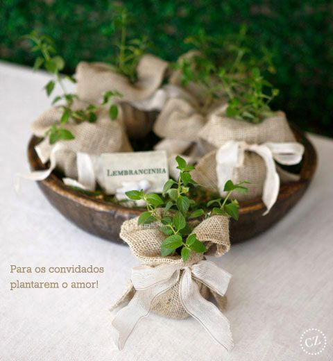 pretty herb favors
