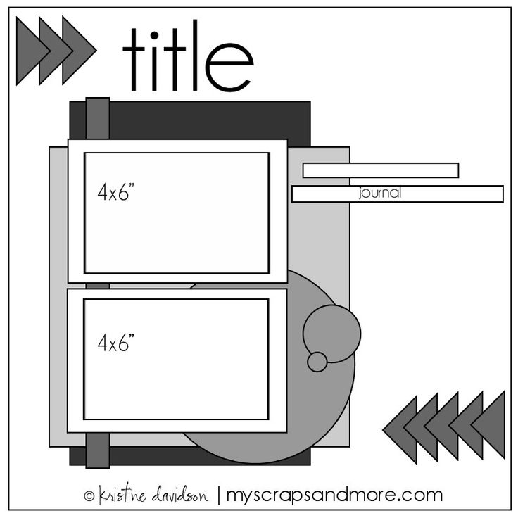 2- 4 x 6 Photo Sketch - Scrapbook.com