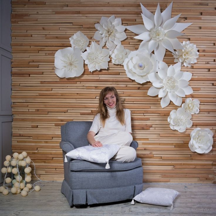 Paper Flower Backdrop - Large Paper Flowers - Wedding Backdrop - Paper Flower Decorations - Paper Flower Centerpiece - Paper Flower Wall by PapierDeco on Etsy