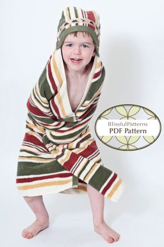 Hooded Baby or Toddler Towel | YouCanMakeThis.com