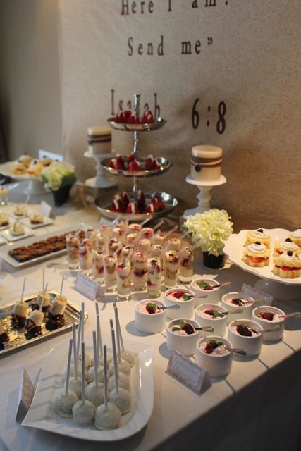 Such a pretty baptism party #baptism #desserts