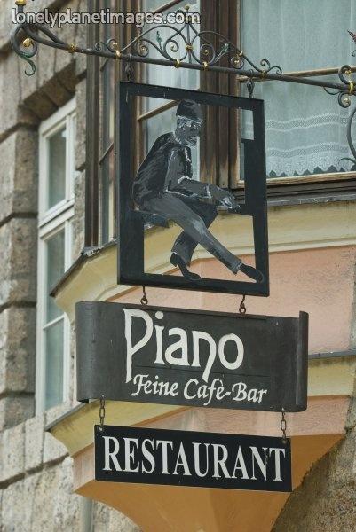 Piano bar in Austria.