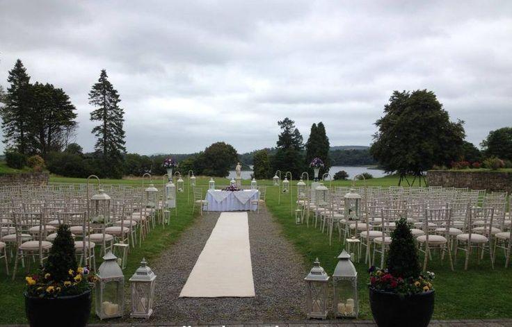 Kilronan Castle - Garden Ceremony. Decor by Simply Divine Weddings.