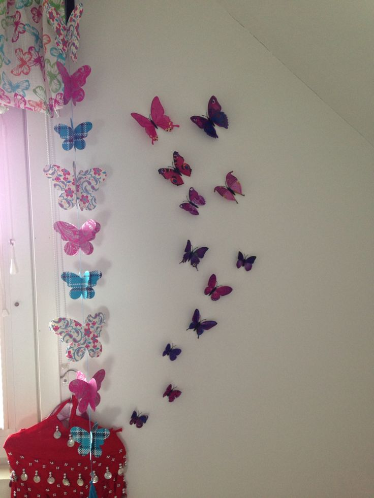 kids room butterfly wall