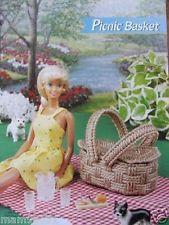 Plastic Canvas Fashion Doll Pattern Traditional PICNIC BASKET