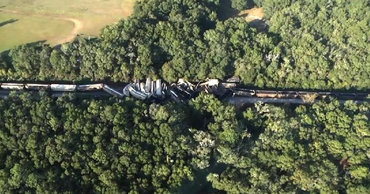 11/16/2016 - CITRA, FL - At least 20 cars were derailed when two freight trains collided in Citra, according to Marion County Sheriff's Office and Marion County Fire Rescue officials.  A HAZMAT team is working to contain a diesel fuel spill.