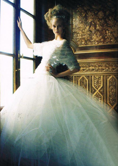 Nimue Smit in Christian Dior Haute CouturePh: Victor Demarchelier | Harper's Bazaar Australia 12/11