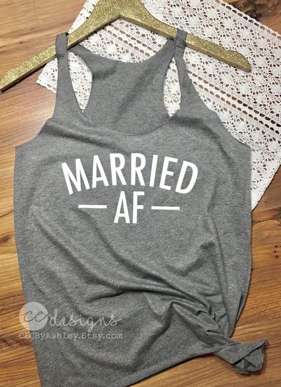 Bride Tank Top Bride Gift honeymoon tank top married af