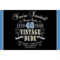 Vintage 40th Birthday Invitations (8pk) $10.50 20891467