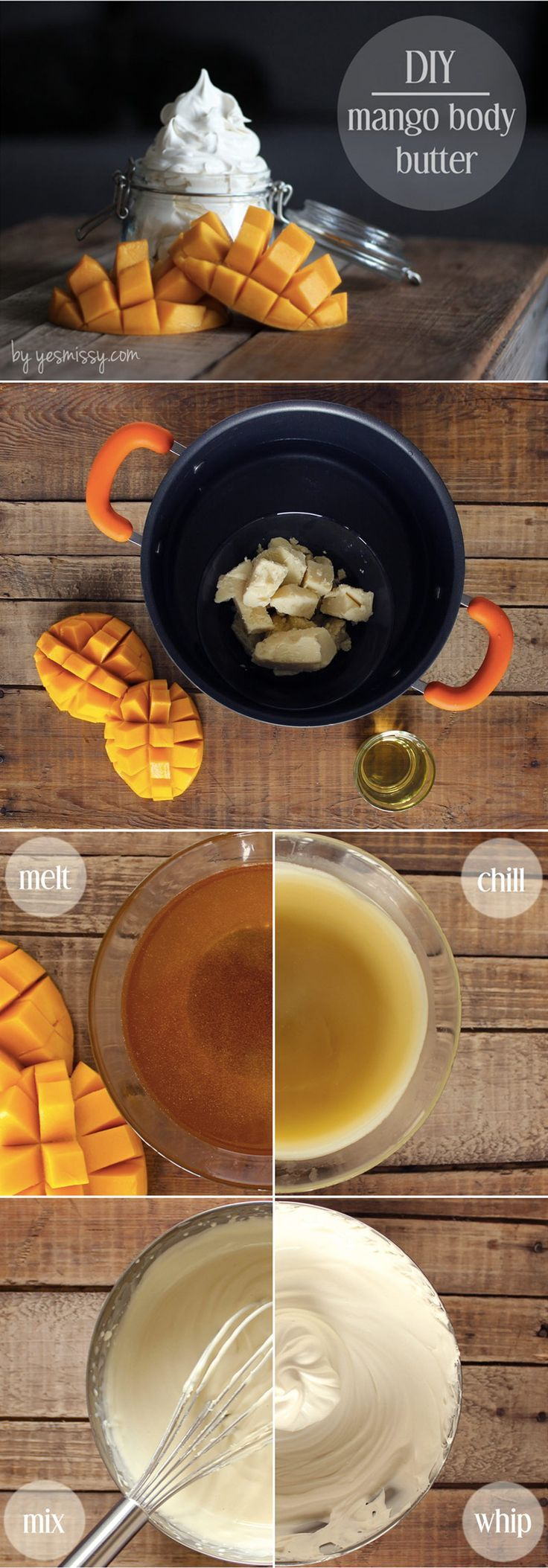Homemade mango body door decorations … –  Hautpflege-Rezepte