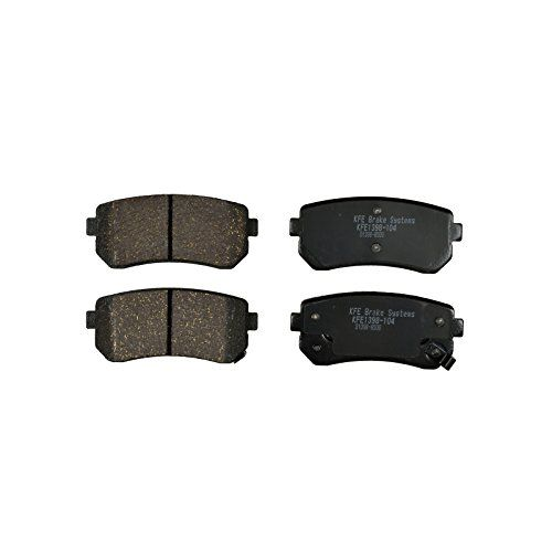 KFE Ultra Quiet Advanced KFE1398-104 Premium Ceramic REAR Brake Pad Set. For product info go to:  https://www.caraccessoriesonlinemarket.com/kfe-ultra-quiet-advanced-kfe1398-104-premium-ceramic-rear-brake-pad-set/