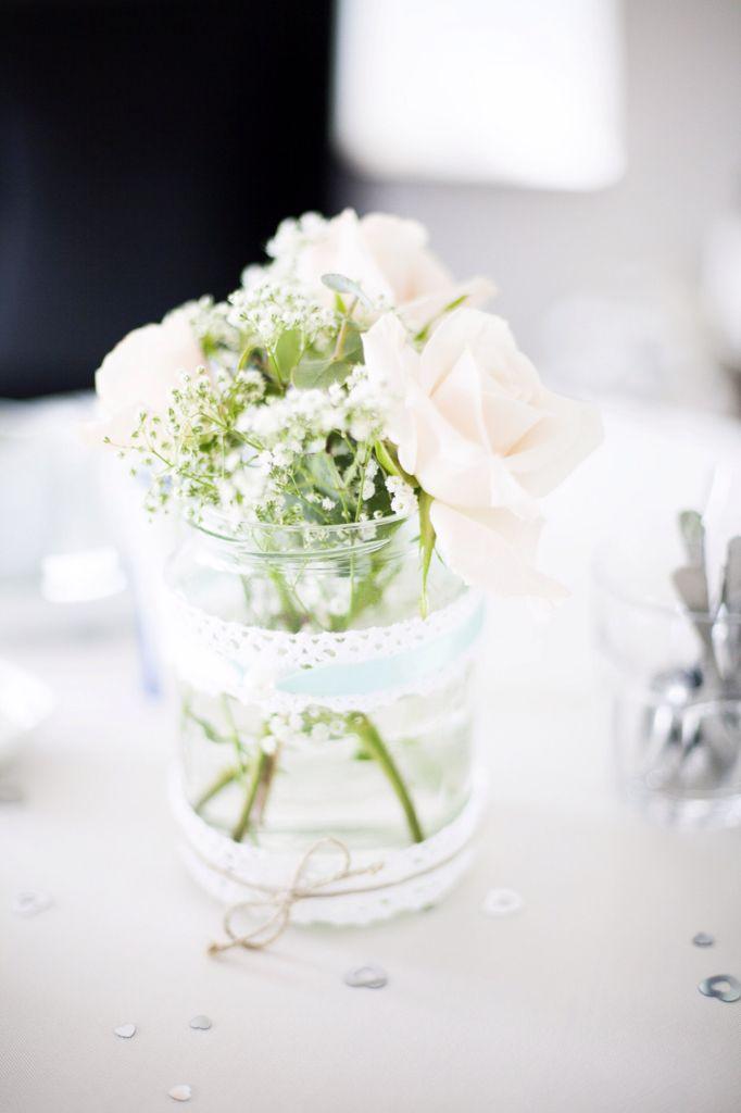 Versieringen gemaakt voor bruiloft van onze dochter