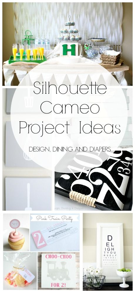 Silhouette Cameo Projects | Parties, Signs & Decor, and more! Fall in love with your Silhouette with these DIY projects.