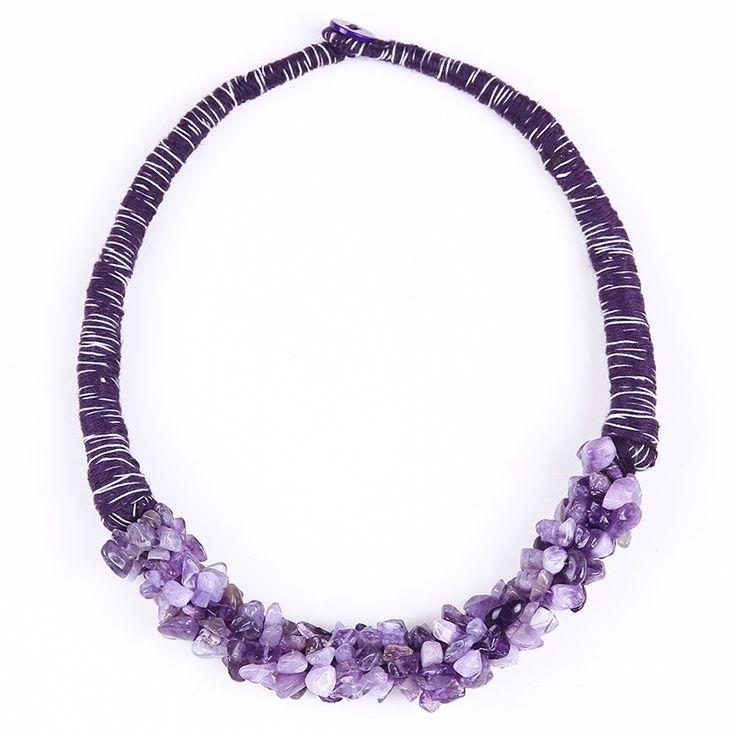Africano Chunky colar de pingente de pedra Natural de jóias jóias roxo jóia de mineiro em Colares gargantilha de Jóias & Acessórios no AliExpress.com   Alibaba Group