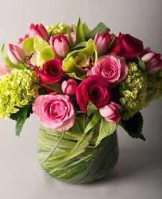 unique flower pink arrangements - Google Search