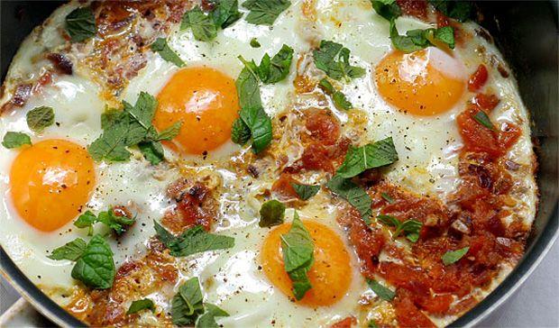Tunéziai huevos rancheros