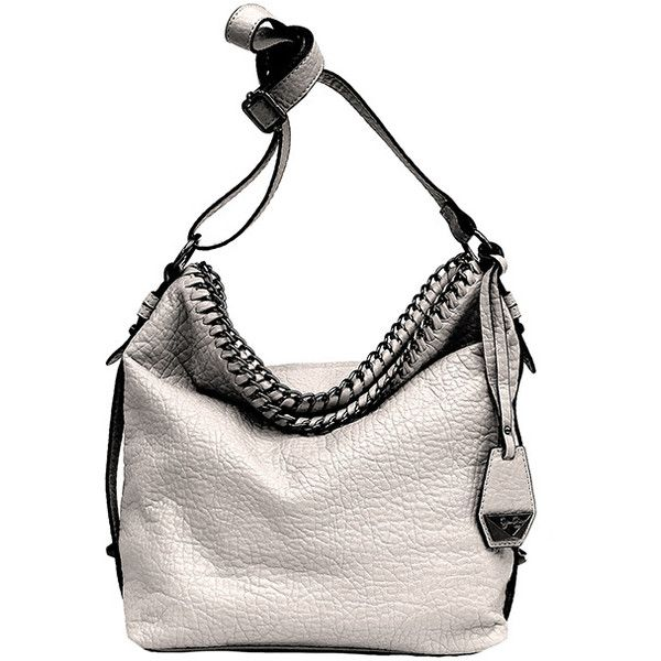 Jessica Simpson Collection Gray Lizzie Crossbody Bag ($35) via Polyvore featuring bags, handbags, shoulder bags, crossbody shoulder bags, zipper purse, jessica simpson purses, grey shoulder bag and grey purse