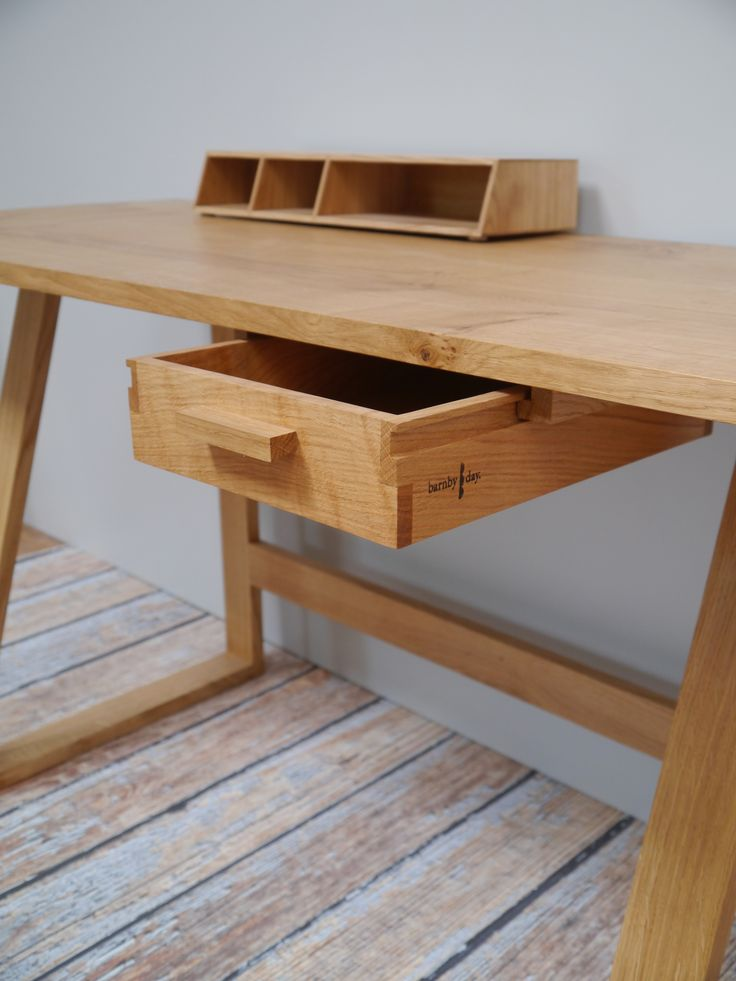 Oak Frame Desk by Barnby & Day