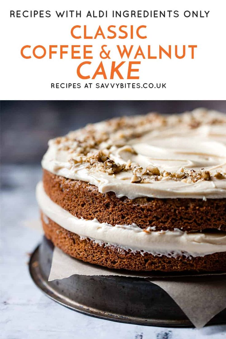 Soft and fluffy coffee walnut cake | Recipe in 2020 ...