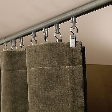 Levelor Kirsch Universal Track For Replacing Closet Doors Or Vertical Blinds With Curtains A