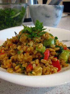 Полба (спельта) с овощами