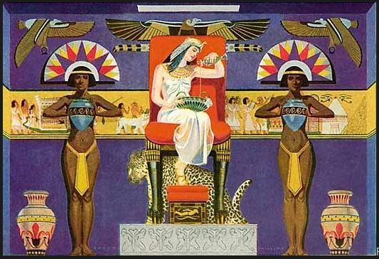 Cleopatra in a vintage Palmolive ad BeingCleopatra.blogspot.com