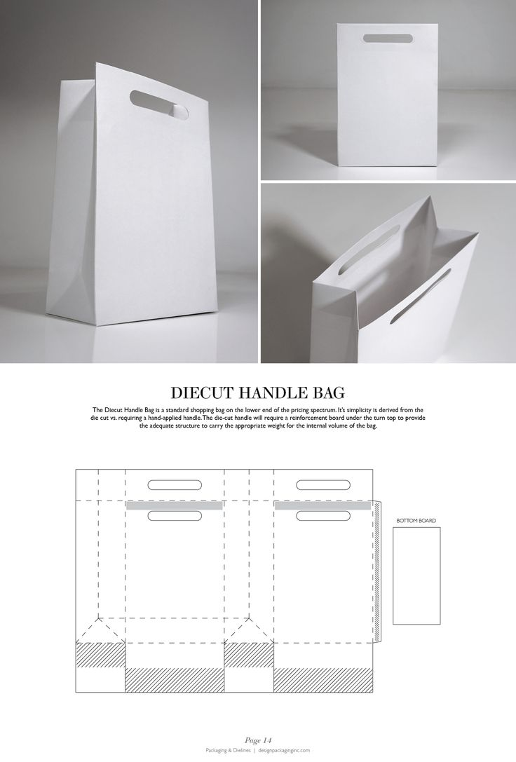 Diecut Handle Bag - Packaging & Dielines: The Designer's Book of Packaging Dielines