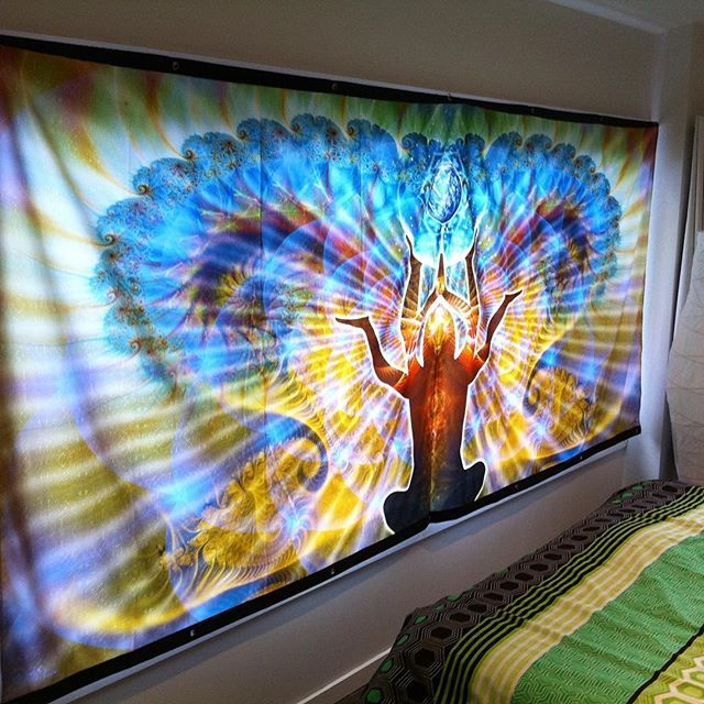 Uplift your sacred space with huge visionary art tapstry :) http://www.pumayana.com