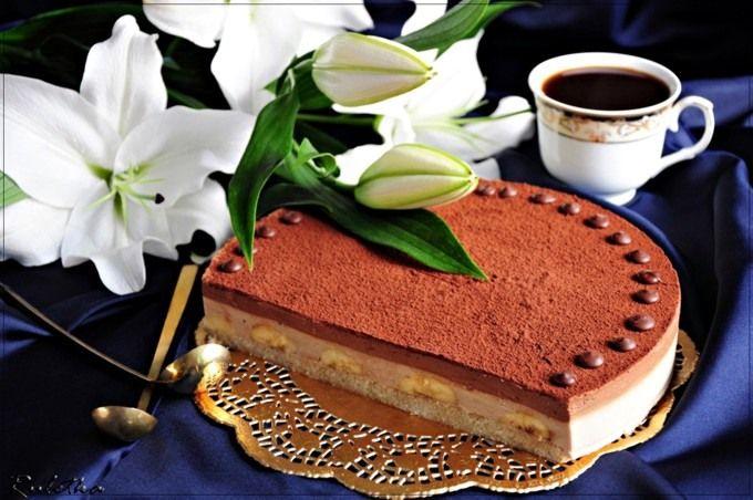 Шоколадно-банановый торт. пошаговый рецепт с фотографиями