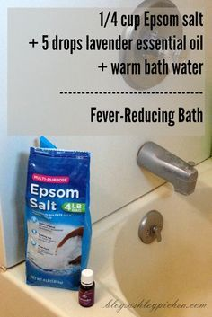 Reducing a Fever with Essential Oils | Fever-Reducing Bath Recipe