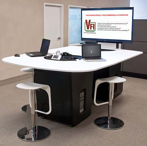 The collaboration table T628 brings a clean high-tech look to today's educational rooms. Please click the image for more details and available configurations.