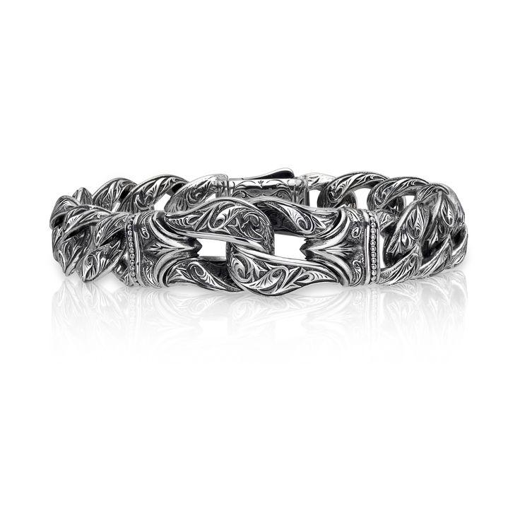 "Day #4 Feature: Engraved Scott Kay ""Guardian"" bracelet, style GB2591SG. Win one of $25,000 worth of Scott Kay fashion jewelry pieces! Enter at www.stevepadisjewelry.com/scottkay31days #31daysofscottkay"