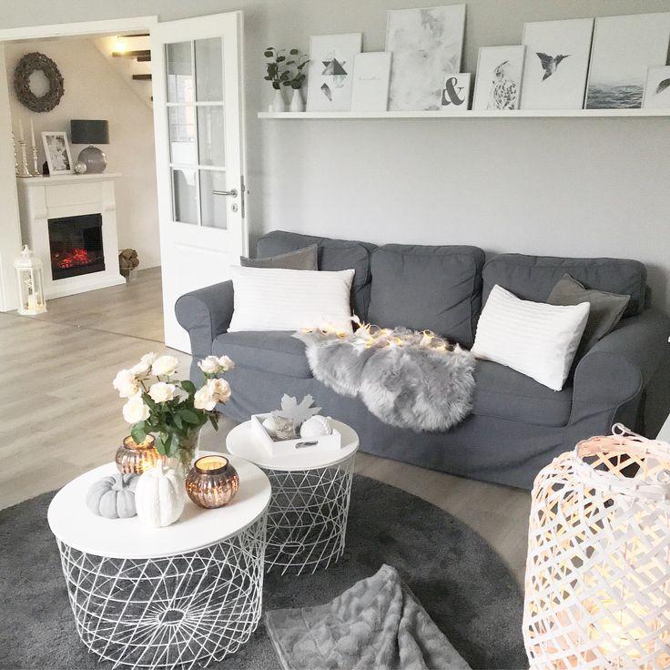 instagram wohnemotion landhaus wohnzimmer modern grau