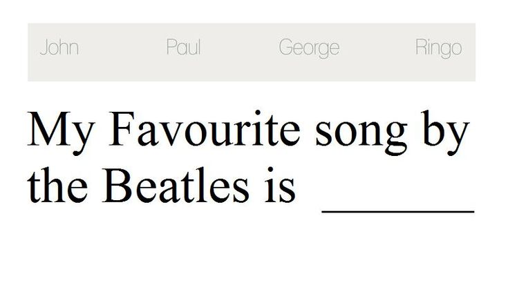 My Favourite song by the Beatles is __________________   #thebeatles