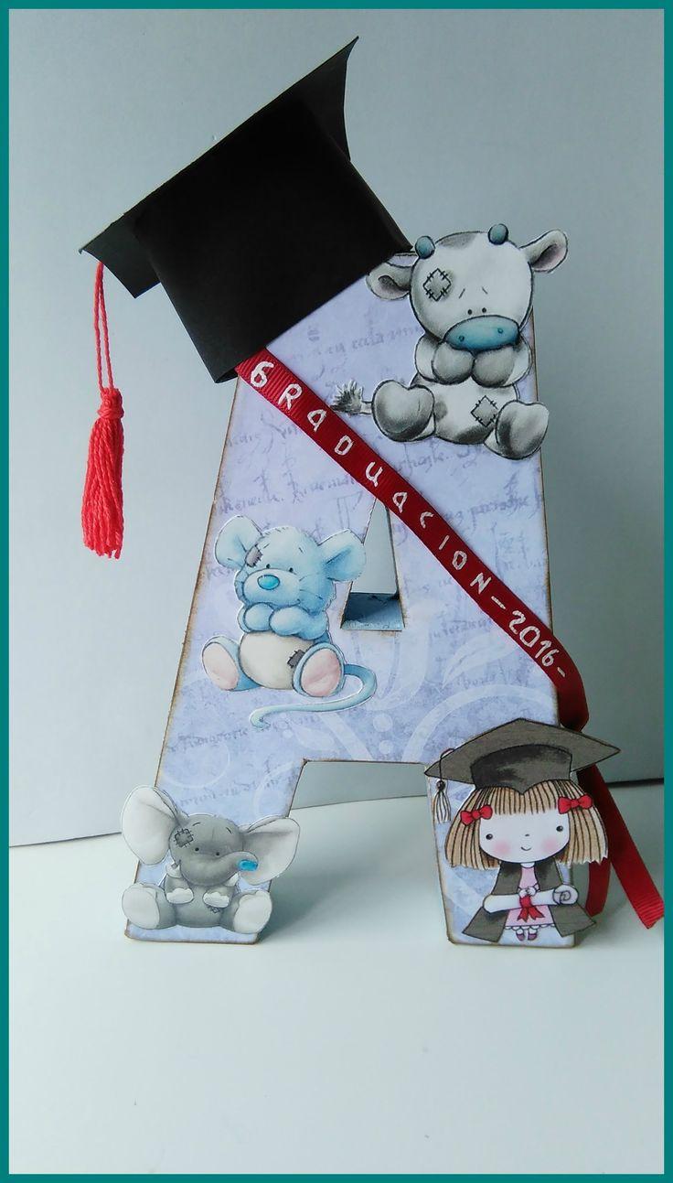 Tutorial de letra decorada para una graduación.