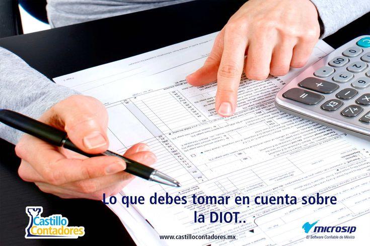 La DIOT es una de las obligaciones de gran relevancia,¿Qué es la DIOT? ¿Cuáles son las consecuencias de no presentar la DIOT? ¿Quiénes están obligados a presentarla? Y ¿Cuándo se debe presentar esta? Descúbrelo aquí. #DIOT #contabilidadelectrónica #microsip #contabilidad #castillocontadores