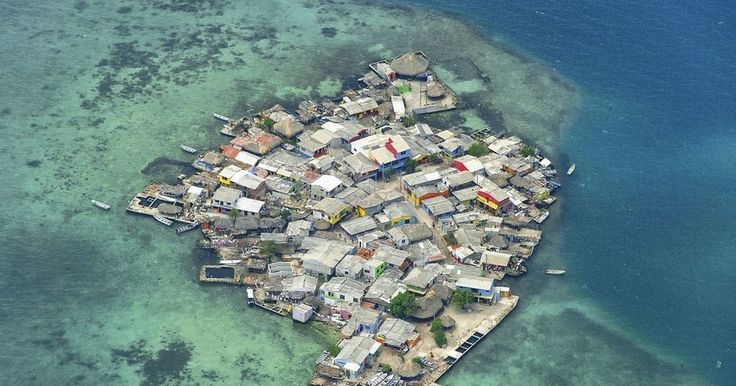 Santa Cruz del Islote is a tiny coral island, and one of the smallest, in the archipelago of San Bernardo off the coast of Colombia.