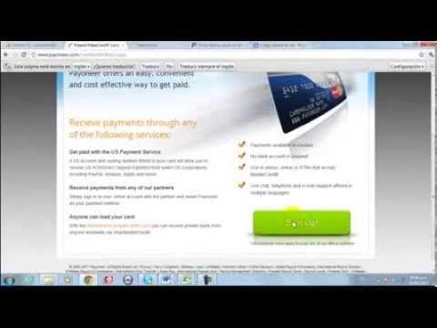 Tarjeta Payoneer, Cómo solicitarla Gratis y Asociarla con Paypal