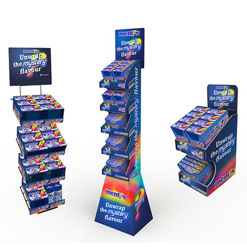 Mentos Mystery Promotion: counter units by Exposure Creative #counterunit #promotion #display #pointofsale #pos #pop #design