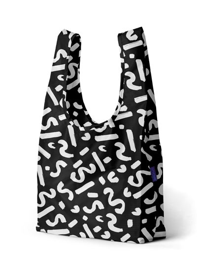 Black Paint Print Baggu designed by our very own Pia Howell!  www.BAGGU.com