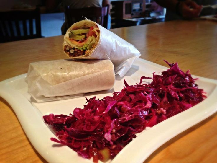 Introducing the 'Burning Man Wrap'. Totally vegan & totally awesome! Come in and give this deliciousness a try