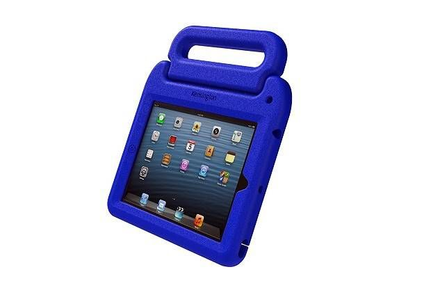 Kensington SafeGrip for iPad - BLUE | Features a rugged handle, stylus holder and a personalisation lot for kids in the classroom! #kensington #safegrip #classroom #students #protective #iPad