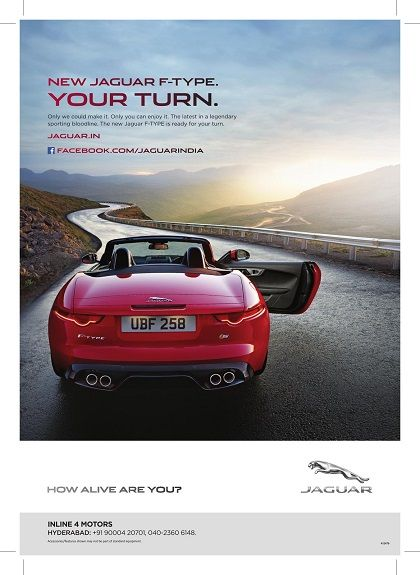 """Advertising agency #REVMEDIA from India has used the Layar SDK to build its own Augmented Reality application called Rev Eye. They partnered with Jaguar making their """"F-Type"""" print ad come alive. Scan the ads with the @Layar App or the @Ruth Varner Eye (powered by Layar)!"""