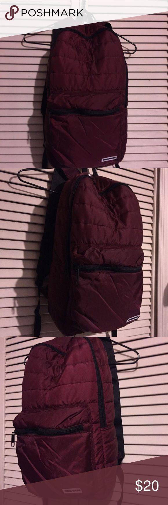 🔥CONVERSE BURGUNDY BACKPACK Cushion burgundy backpack Converse Bags Backpacks