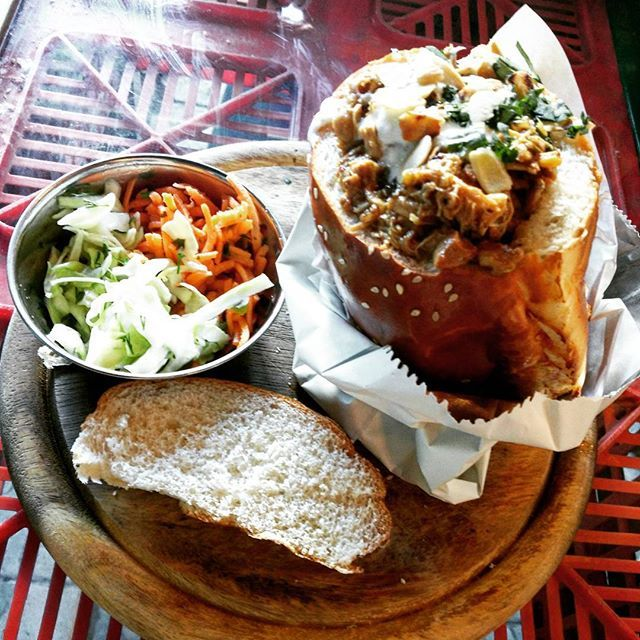 Bunny Chow Sandwich from South Africa